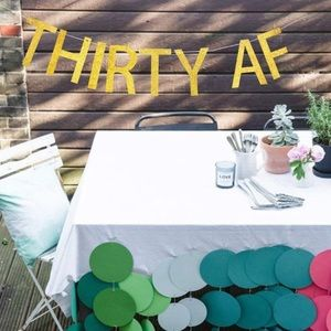 "Accessories - ""Thirty AF"" 30th Birthday Decorations Banner Kit"